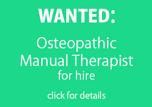 WANTED: Osteopath for hire