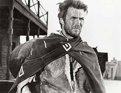 Clint Eastwood embodies the stoic masculine archetype